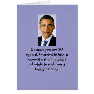 Deseos del cumpleaños de Obama Tarjeta De Felicitación