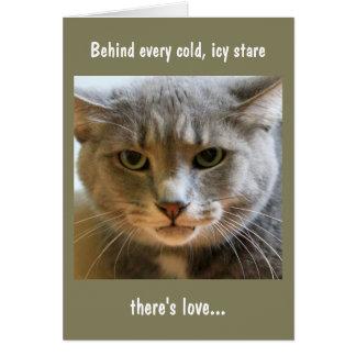 Deseos del cumpleaños del gato tarjeta de felicitación