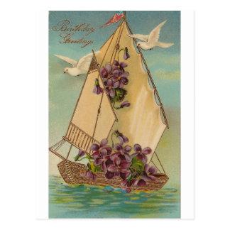 Deseos del cumpleaños del vintage postales