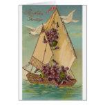 Deseos del cumpleaños del vintage tarjeta