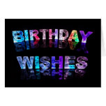 Deseos del cumpleaños en foto de las luces felicitaciones