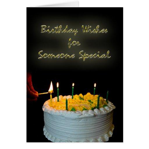 Deseos del cumpleaños para alguien especial tarjeta de felicitación