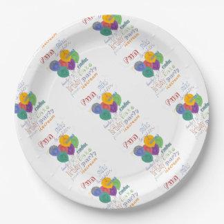 Deseos del cumpleaños plato de papel 22,86 cm