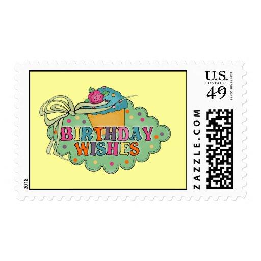 Deseos del cumpleaños sello