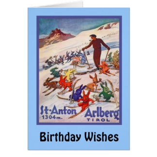 Deseos del cumpleaños, St Antón, Arlberg Tarjeta De Felicitación