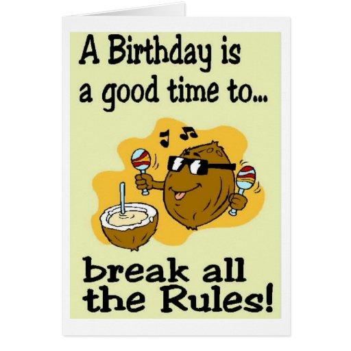 Deseos del cumpleaños tarjetas