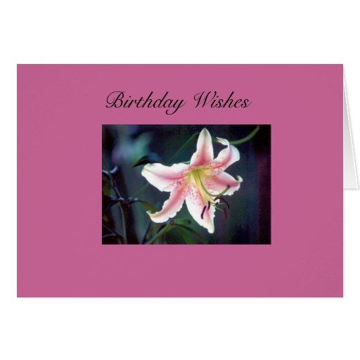 deseos del cumpleaños tarjeton