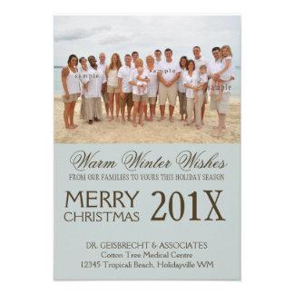 Deseos del día de fiesta de la playa de la foto de invitaciones personalizada