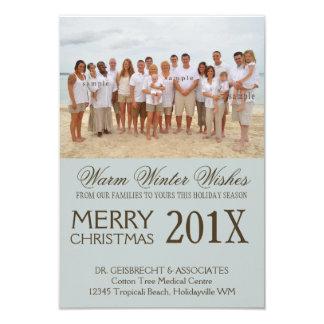 Deseos del día de fiesta de la playa de la foto invitación 8,9 x 12,7 cm
