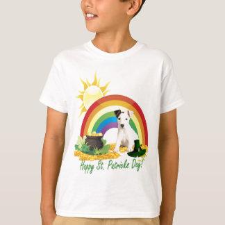 Deseos del día de Jack Russell Terrier St Patrick Playera