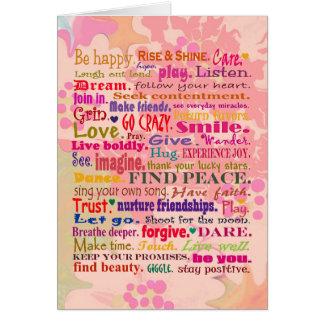 deseos del feliz cumpleaños tarjeta de felicitación