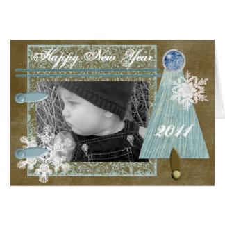 Deseos del invierno de encargo tarjeta de felicitación