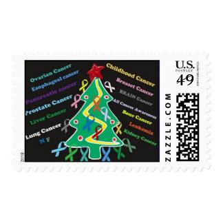 Deseos del navidad de cada uno con el cáncer ..... sello postal