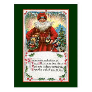 Deseos del navidad de Santa Postales