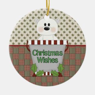 Deseos del navidad ornaments para arbol de navidad