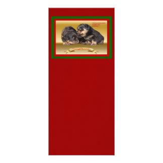 Deseos del navidad del perrito de Rottweiler Plantilla De Lona