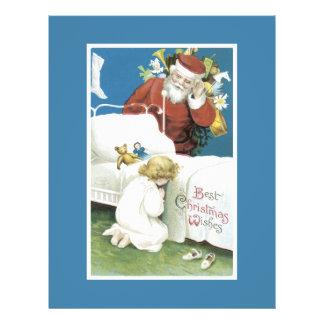 """Deseos del navidad del vintage folleto 8.5"""" x 11"""""""
