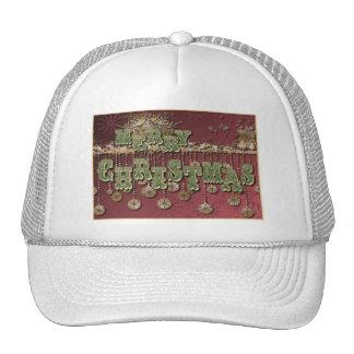 Deseos del navidad del vintage gorras