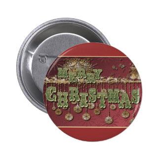 Deseos del navidad del vintage pin redondo 5 cm