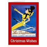 Deseos del navidad, diablerets de Les, Suiza Felicitacion