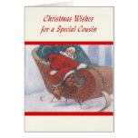 Deseos del navidad para un primo especial tarjetón
