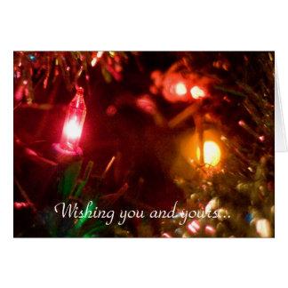 Deseos del navidad tarjeta