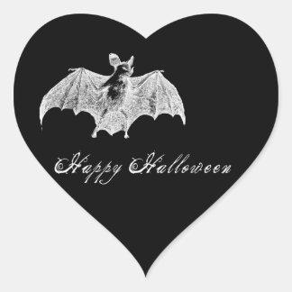 Deseos del palo de vampiro pegatina en forma de corazón