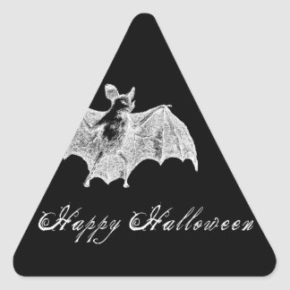 Deseos del palo de vampiro pegatina triangular