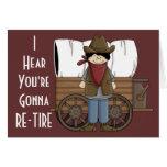 Deseos del retiro del vaquero - humor occidental tarjetas