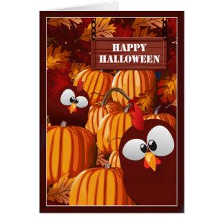 Deseos divertidos de Halloween del remiendo de la Tarjeta De Felicitación