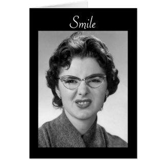 Deseos divertidos del cumpleaños del vintage para  tarjeta de felicitación
