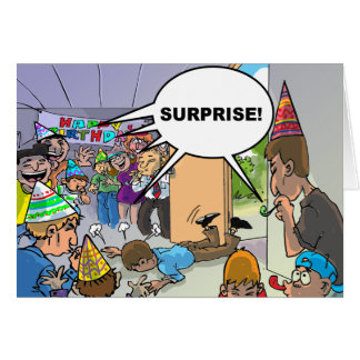 Deseos divertidos del cumpleaños - muerte por la c felicitacion