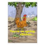 Deseos divertidos del cumpleaños - pollo de primav tarjetón