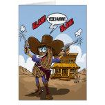 Deseos divertidos del cumpleaños - vaquero del cac tarjeta