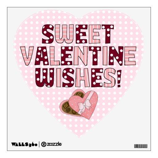 Deseos dulces de la tarjeta del día de San Valentí