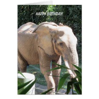 Deseos dulces del cumpleaños del elefante tarjeton