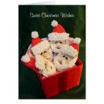 Deseos dulces del navidad tarjetas