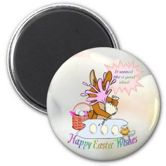 Deseos felices adorables de Pascua Imán De Frigorifico