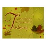 Deseos felices de la acción de gracias - postal