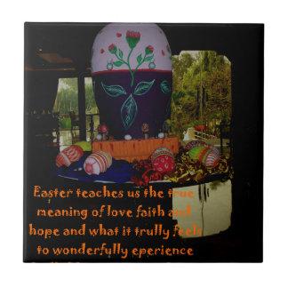 Deseos felices de la fe y de la esperanza del amor azulejo cuadrado pequeño
