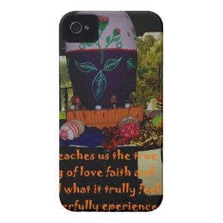 Deseos felices de la fe y de la esperanza del amor Case-Mate iPhone 4 carcasa