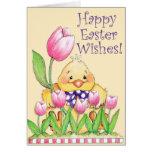 Deseos felices de Pascua - tarjeta de felicitación