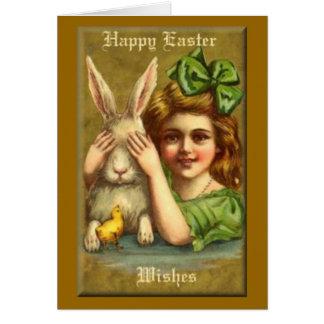 Deseos felices de Pascua Tarjeta De Felicitación