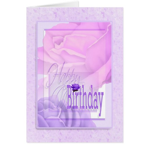Deseos florales de la flor del cumpleaños para las tarjeta de felicitación