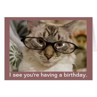 Deseos inestimables del cumpleaños de la expresión tarjeta pequeña