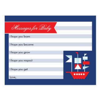Deseos náuticos para la tarjeta del bebé postal