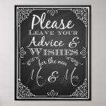 Deseos nuevos Sr. y señora del consejo y del pozo Póster