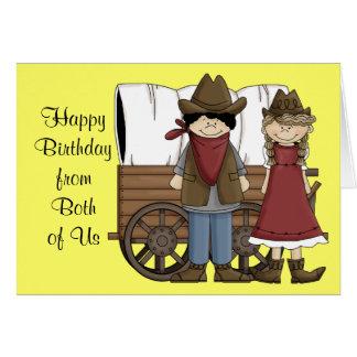 Deseos occidentales del cumpleaños de ambos felicitaciones