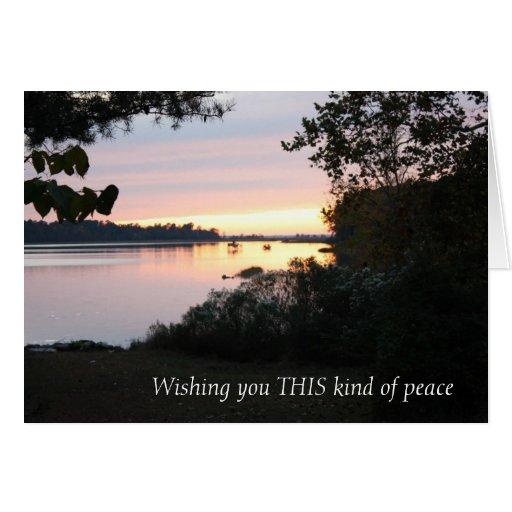 Deseos pacíficos tarjetas