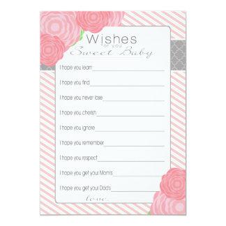 """Deseos para la tarjeta de la fiesta de bienvenida invitación 5"""" x 7"""""""